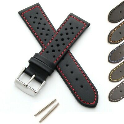 Calf Leather Watch Strap With Perforations • 14.95£