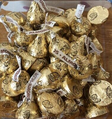 £10.50 • Buy Hersheys Kisses Creamy Milk Chocolate With Almonds 500g Bag Approx 110 Kisses🎁