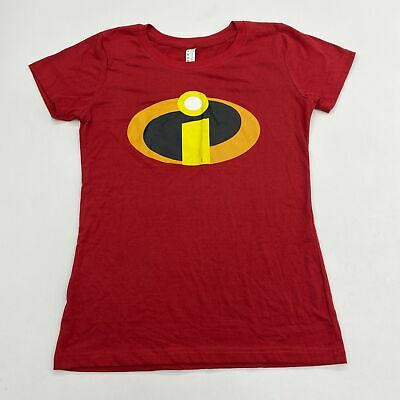 The Incredibles T Shirt Women's Medium Short Sleeve Red Crew Neck 100% Cotton • 12.87£
