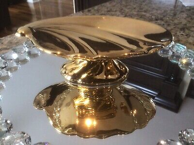 $ CDN19.99 • Buy Royal Winton Grimwades England Shell Shaped Gold Candy Dish
