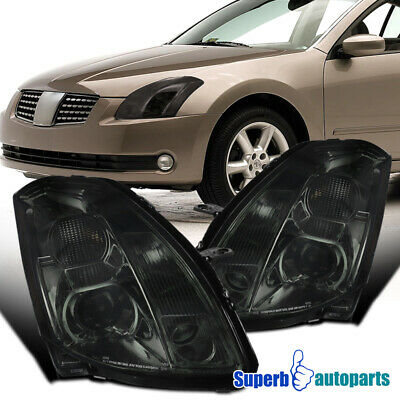 $207.98 • Buy For 2004-2006 Nissan Maxima Projector Headlights Turn Signal Lamps Smoke