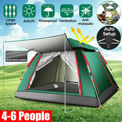 AU85.29 • Buy 4-6 Person Camping Tent Anti-UV Waterproof Automatic Opening Outdoor Tent Kit AU