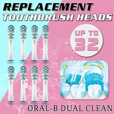 AU6.29 • Buy Toothbrush Heads Replacement DUAL CLEAN For Oral-B Electric Floss Flexi