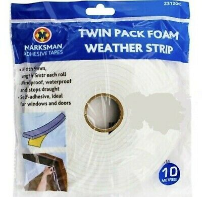 5M Foam Draught Excluder Weather seal Strip Ideal For Windows /& Doors