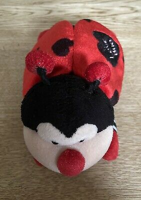 LOVE BUG Ladybird Soft Plush Toy Valentine Red Black White • 2.95£