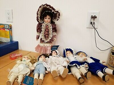 $ CDN45.97 • Buy Lot Of 6 Porcelain Dolls By MYD (Marian Yu Designs)