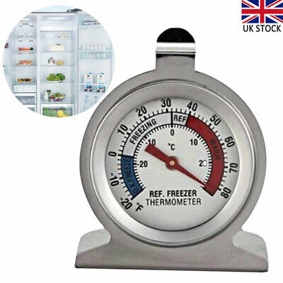 £5.14 • Buy Stainless Steel Home Refrigerator Freezer Thermometer Dial Temperature Gauge UK