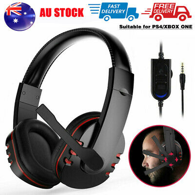 AU15.59 • Buy Durable Stereo Gaming Headset Headphone Wired With Mic For PC Xbox One PS4 Ea
