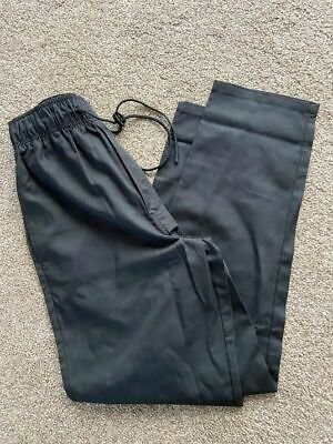 £10 • Buy A Brand New Alexandra Black Chefs Trouser With Drawstring Size Small