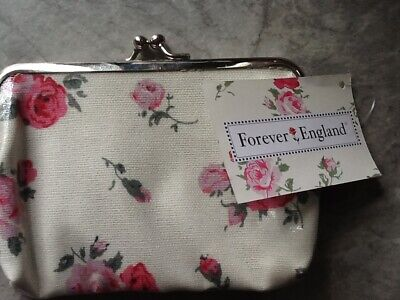 £3.99 • Buy  Ladies Forever England Coated Canvas Coin Card Pouch Wallet Purse  Bag 14 Cms