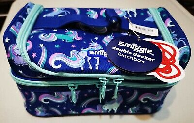 $ CDN26.46 • Buy New Blue Smiggle Good Vibe Unicorn Double Decker Sandwich Lunch Bag