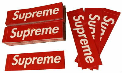 "$ CDN3.70 • Buy Supreme Red Box Logo Sticker (x1)  | 100% Authentic | - 8"" X 2¼"