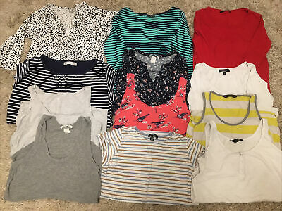 Bundle Of 12 Maternity/nursing Tops Size 10-12. Good Used Condition. • 15£
