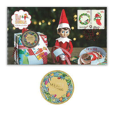 AU95 • Buy Australia 2020 Elf On The Shelf Stamps & $1 Coin Cover - PNC Limited Edition/300