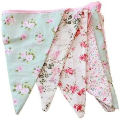 £6.95 • Buy Vintage Floral Bunting 3m - 100% Cotton Double Sided