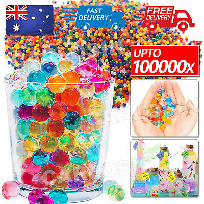 AU5.85 • Buy 50000pcs Orbeez Crystal Soil Water Balls Jelly Gel Beads For Vase Home Wedding