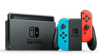 AU345 • Buy Switch Console Neon Red And Blue Very Good Condition