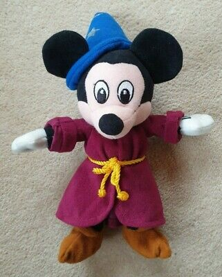 £5 • Buy Disney Store - Sorcerer Mickey Mouse Bean Bag Beanie Soft Toy