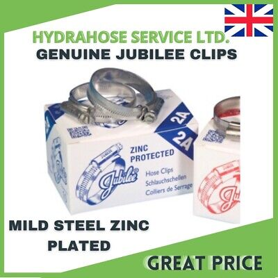 £1.68 • Buy Jubilee Hose Clips (Worm Drive) Mild Steel Clamps Genuine Part Various Sizes