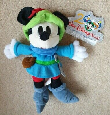 £8 • Buy Walt Disney World Exclusive Mickey Mouse Brave Little Tailor Beanie Bean Bag Toy