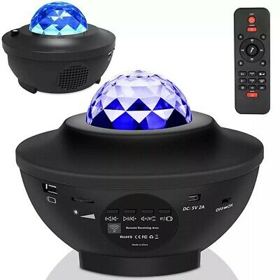 GALAXY360PRO PROJECTOR - Music Starry Water Wave LED Projector Light Bluetooth • 26£