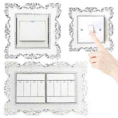 DIY Silver Resin Light Switch Surround Socket Finger Plate Panel Luxurious Cover • 3.41£