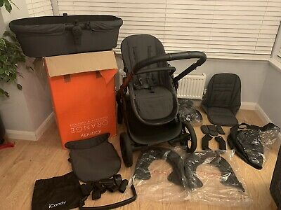 ICandy Orange Double Pushchair - Autumn/Carbon Grey With New Mattress • 300£