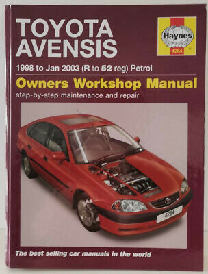HAYNES Toyota Avensis Petrol Service And Repair Manual Book 1998-2003 • 4.65£