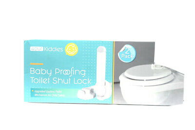 £9.30 • Buy Baby Proofing Toilet Seat Shut Lock 2 Pack Child Safety Universal Fit 4OUR Kiddi