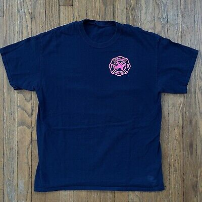 $19.99 • Buy Vintage Cleveland Airport Fire Department T-Shirt Breast Cancer 1990s 2000s