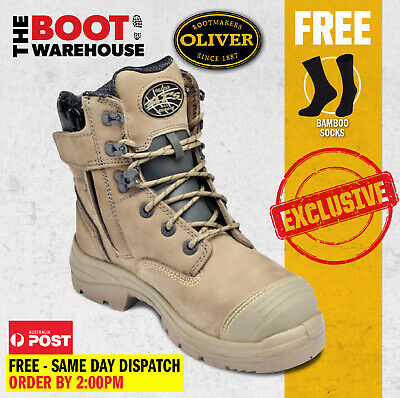 $ CDN174.39 • Buy Oliver 55352Z STONE Work Boots, Steel Toe Safety, Side Zip (55332z STONE)