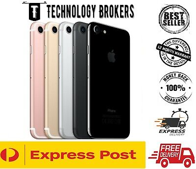 AU230 • Buy Apple IPhone 7 32/128/256 GB Black Rose Gold Silver Unlocked Smartphone AU Stock