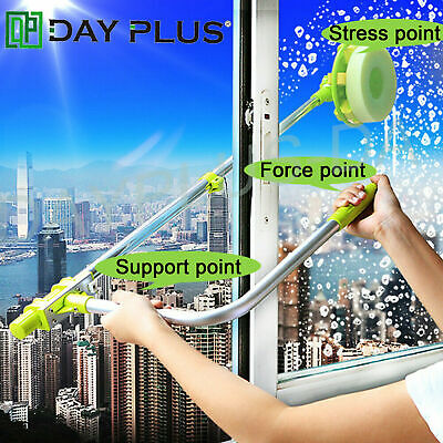 U-type Telescopic High Rise Window Cleaner Glass Dust Cleaning Brush Squeegee Uk • 18.50£