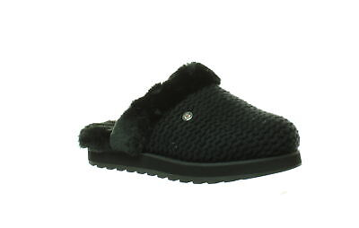 Bobs By Skechers Womens Keepakes - Sleep In Black/Black Slippers Size 5.5 • 9.40£
