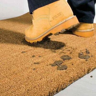 Rolled Coir Matting Thick Tough Durable Non Fray PVC Backing Coconut Natural Mat • 12.95£
