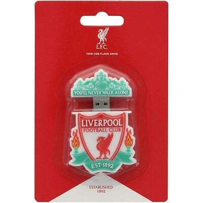 Liverpool FC Crest Shaped 16GB USB Pen Drive Official Merchandise NEW UK • 17.99£