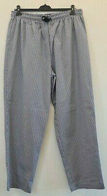 £7.45 • Buy Chef Kit Chef Trousers Small Blue Check Mens *el148