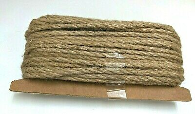 120 Feet Natural Jute Rope 5mm Thick Strong Burlap Twine Hemp Rope Cord For Arts • 13.59£