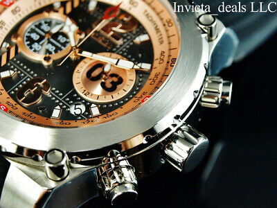 $ CDN107.60 • Buy NEW Invicta Men's 50mm AVIATOR AIRLIFT Chronograph ROSE DIAL Silver Tone Watch