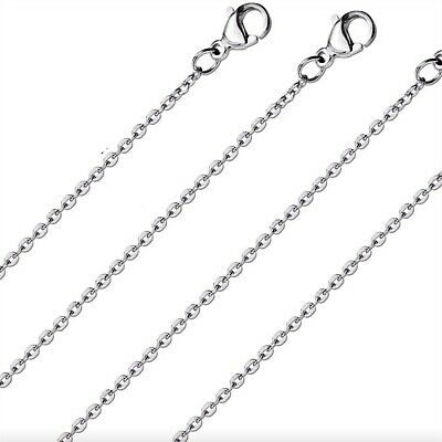 AU2.49 • Buy Silver Cable Chain 2mm Stainless Steel Classic Necklace 45-60CM Pendants Charms