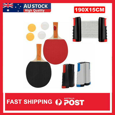 AU22.99 • Buy Table Tennis Kit Ping Pong Bats Balls Net Set Retractable Portable Sports Indoor