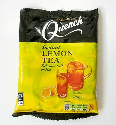 Victoria Foods Quench Instant Lemon Tea Powder Delicious Iced Or Hot 285g Bag • 2.99£