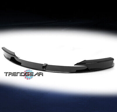 AU152 • Buy For 2012-2018 BMW F30 3-Series M Sport Front Bumper Lip Splitter ABS Gloss Black