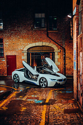 Exceptional 2016 (65) BMW I8 Hybrid 4WD Supercar - Pearlescant White Multicolour • 39,995£