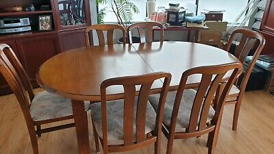 AU400 • Buy Extendable Dining Table And Six Chairs