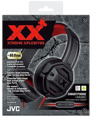 $ CDN24.28 • Buy JVC Black & Red Xtreme Xplosives Wired On Ear Headphone With Microphone & Remote