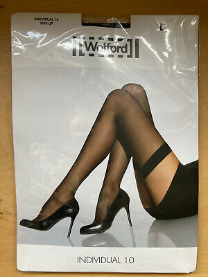 Wolford Individual 10 Stay Up, Black, Large. Brand New And Unopened • 12£
