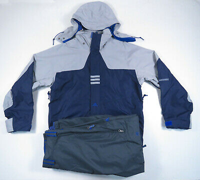 AU227.15 • Buy Vintage 90s Adidas Blue Gray Spell Out Snowboard Ski Jacket And Pants Set Mens L