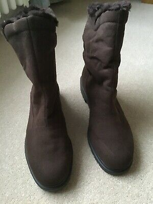 £13 • Buy RODHE WOMENS BROWN FAUX SUEDE BOOTS UK Size 8 EU 42 BRAND NEW