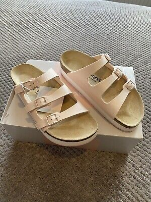 Birkenstock Papillio Florida Pap Icy Metallic Light Rose Sandals UK 5 • 43£
